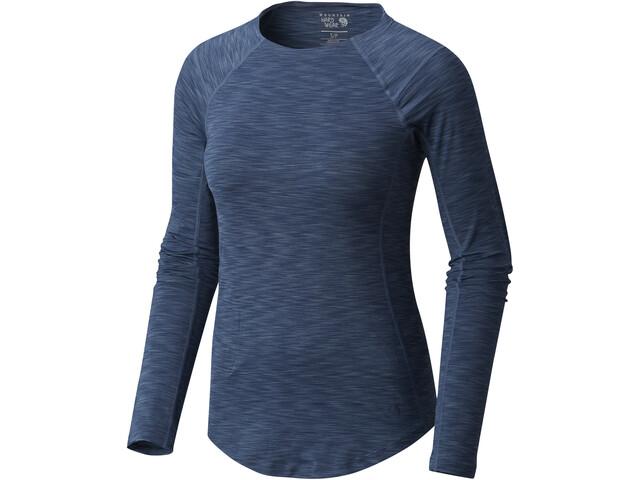 Mountain Hardwear W's Mighty Stripe LS T-Shirt Zinc